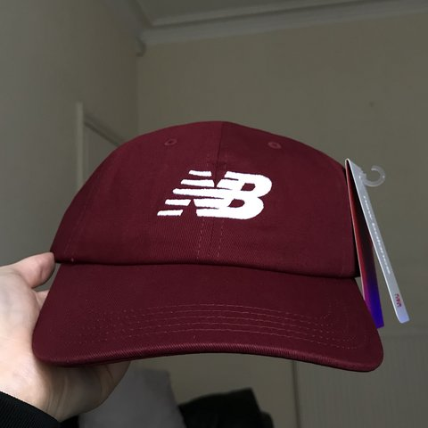 d04836e75c39c Burgundy   Red new balance cap. Dad cap style. Another one i - Depop