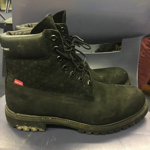 0ff0cf4c1136 Supreme x cdg comme des garcons x timberland boots. Black in - Depop