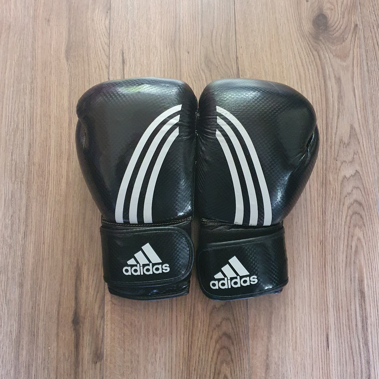 Black Adidas 14 ounce climacool boxing gloves...