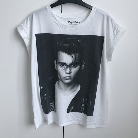 4c233999f ... Johnny Depp Cry Baby t shirt Worn a couple of times but in Depop Source  · Women S Tee Cry Baby T Shirt Women Black White Grey T Shirt Harajuku