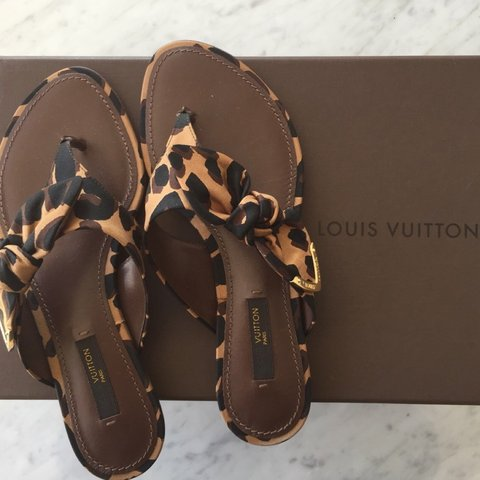 f05c5ce37f96 Louis Vuitton sandals. Size 35 or 5 in women s. (Possibly a - Depop