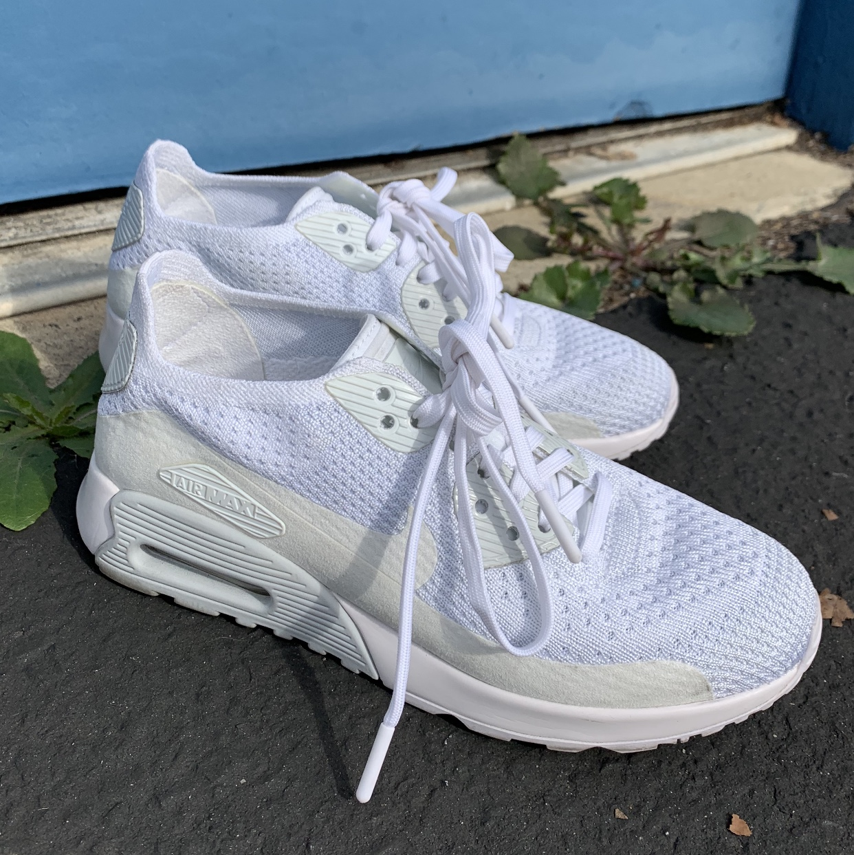 the best attitude 128d7 1c32a Nike ✔️ Air Max 90 Ultra 2.0 Flyknit - TRIPLE WHITE ...