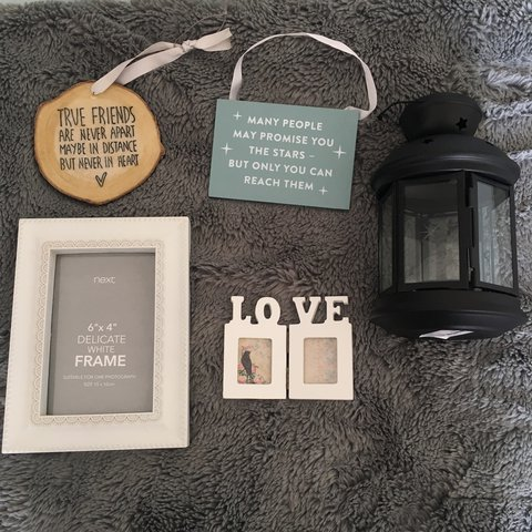 Never Used Photo Frames Lantern And Picture Quotes Can Be Depop