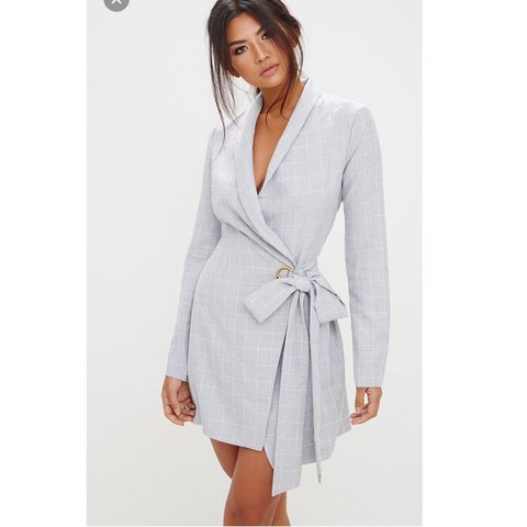 ea23f034715c @phoebeslade. 8 days ago. Manchester, United Kingdom. Pretty Little Thing  Check Blazer Dress - Never worn, new with labels ~ Size 12