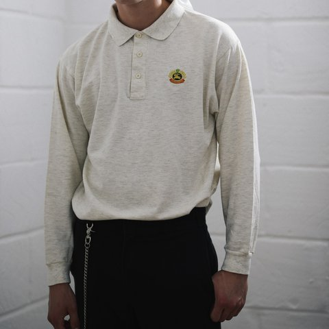 cf98cedce Vintage Burberry Long Sleeve Polo Shirt Top . CONDITION  is - Depop