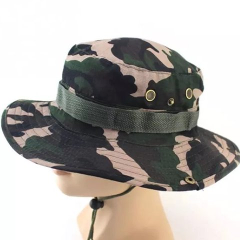 c72dacbd083 Camouflage j Hus style Fisherman hat. Bucket hat style Will - Depop