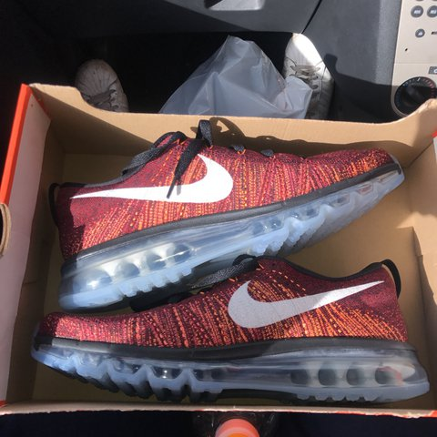 eea80244c1 Brand new from box Nike flyknit max, size 9.5 mint condition - Depop