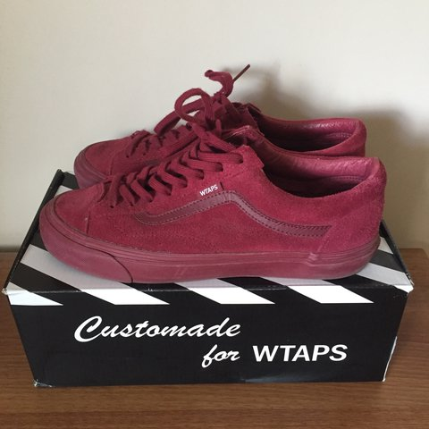 9abf48816d Vans x WTAPs OG Style 36 LX Burgundy. UK 8. Great condition