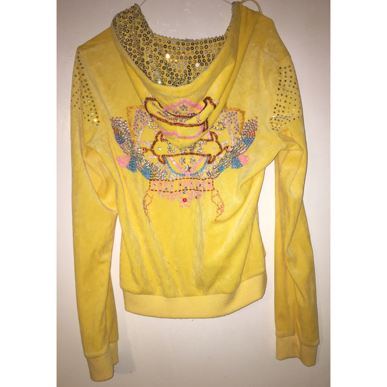 Juicy Couture Velour Tracksuit Type Yellow Depop