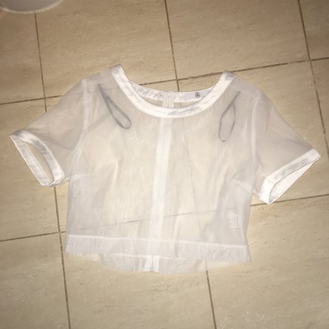 c96f99cf59 Sheer seethrough Missguided top. Size 12 but could be worn - Depop