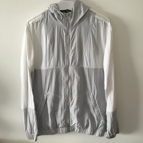 Adidas X Palace light solid grey   white packable Jacket  8ee0d2f20