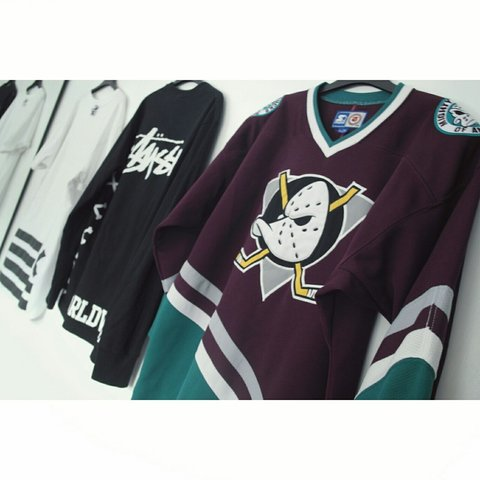 1a6bbae8552 The mighty ducks of Anaheim NHL vintage ice hockey jersey // - Depop