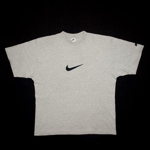 4630726d @cezgolley. last year. Bristol, United Kingdom. Vintage Nike embroidered  swoosh t-shirt in grey, size large ...