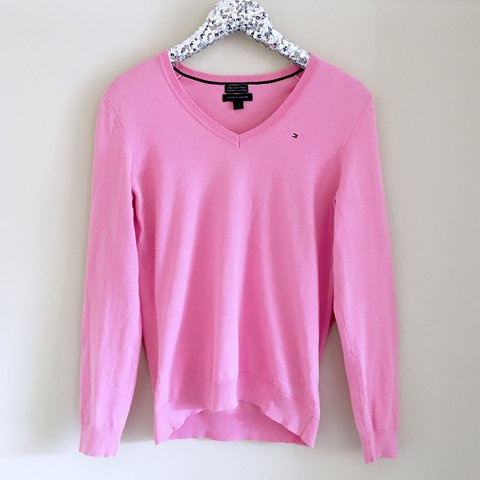 708efd891 Baby pink Tommy Hilfiger top. 💕 Condition: Some light but - Depop
