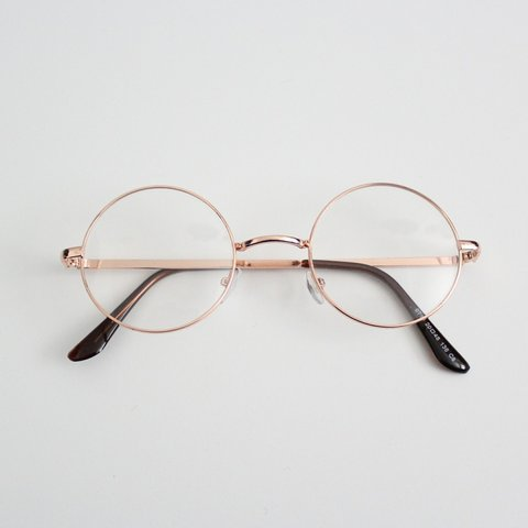 016756e38c Kenna Clear Circle Glasses in Rose Details  Round circle ON - Depop