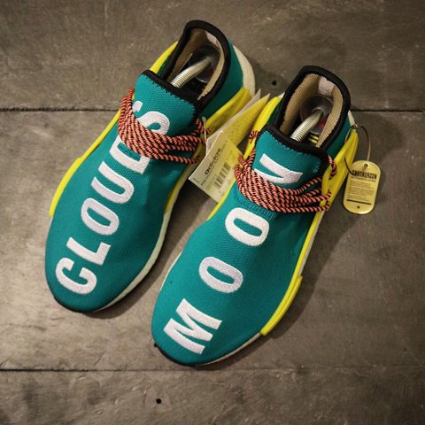 9aafaf2a87967 Pharrell Williams x Adidas NMD Human Race Trail Runner Sun