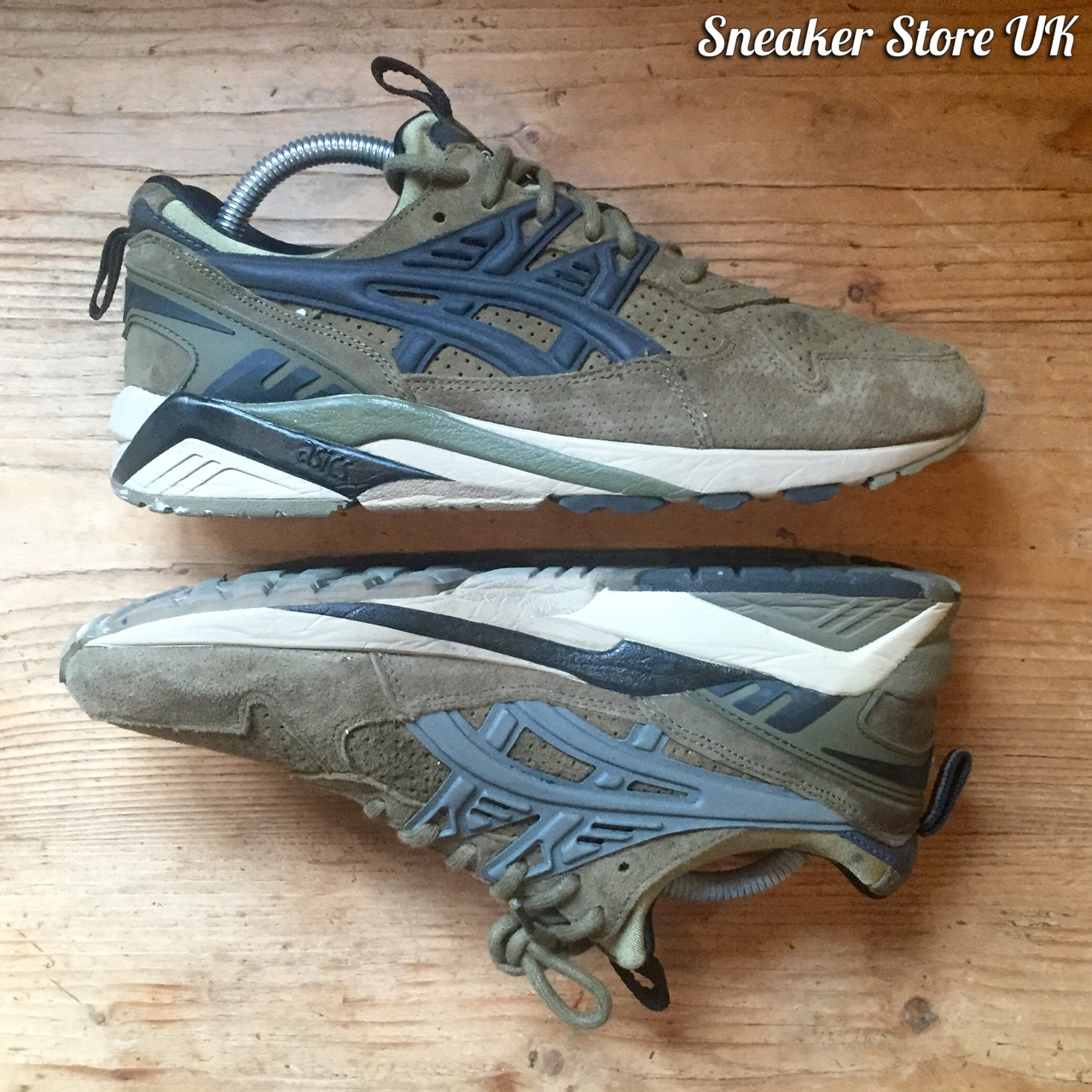 buy popular b6ec3 f05ec Footpatrol x Asics // Gel-Kayano Trainer // Olive +... - Depop