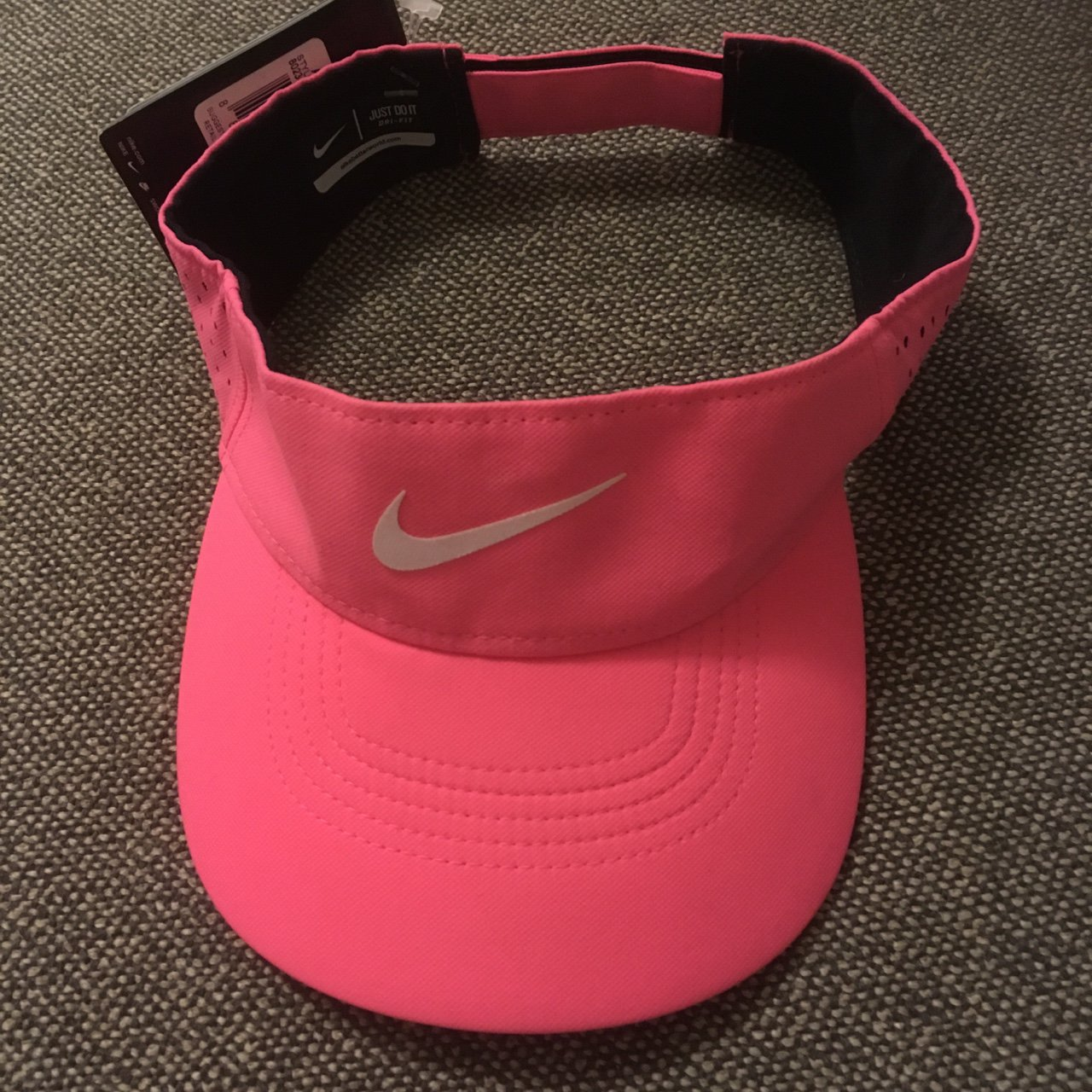 a3fd1220db1 Nike Neon Pink Running Visor Hat  brand new with tags retail - Depop