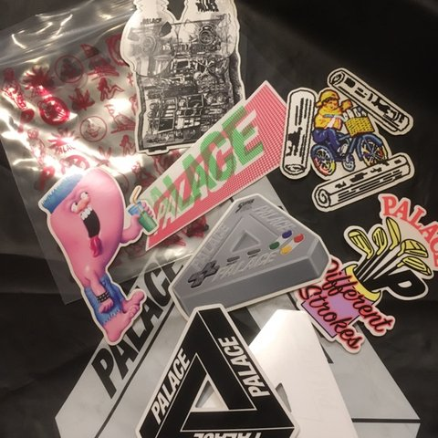 3d1323eda40f FW18 PALACE SKATEBOARDS STICKER PACK  brand new in large 8 - Depop