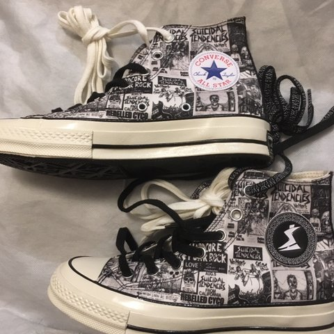 f33137b5093452 SUICIDAL TENDENCIES X CONVERSE SNEAKERS  LIMITED EDITION OUT - Depop