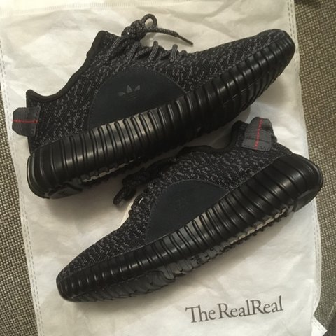2b0c48a316a61 ADIDAS YEEZY BOOST 350 PIRATE BLACK  AQ2659   these didnt me - Depop