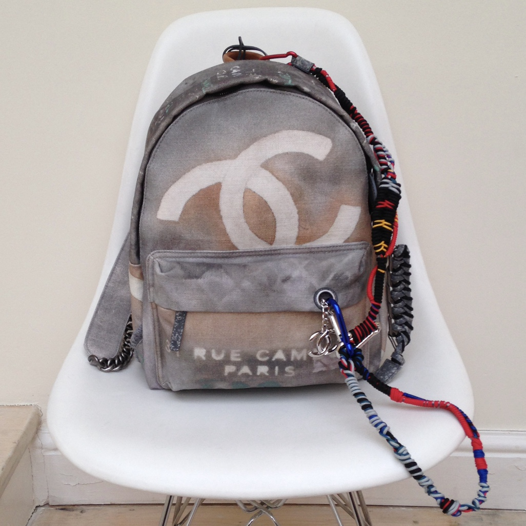 Chanel Graffiti Backpack Used But In Excellent Depop