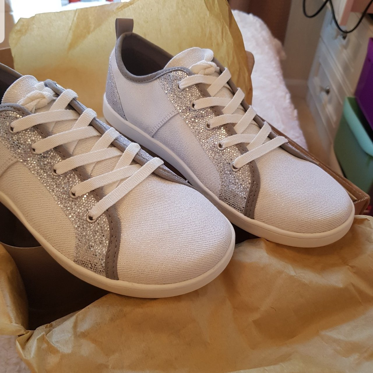 Ugg silver glitter trainers brand new