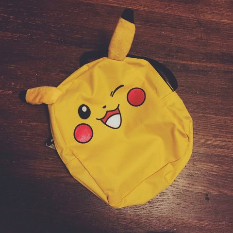a14381f38f28e Adorable little Pikachu backpack. One pocket