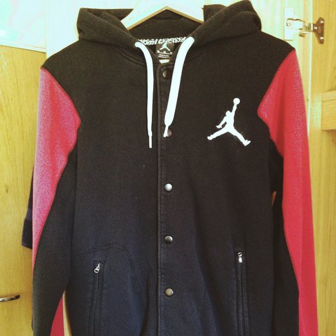 f0a65ae7c6ad21 Nike Jordan Button Up Hoodie. Used. Very Good Condition. M. - Depop