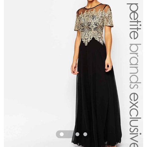 38165d0fcd80 @hiraajamil. 3 years ago. Heywood, UK. Absolutely stunning gold and black  ball gown ...