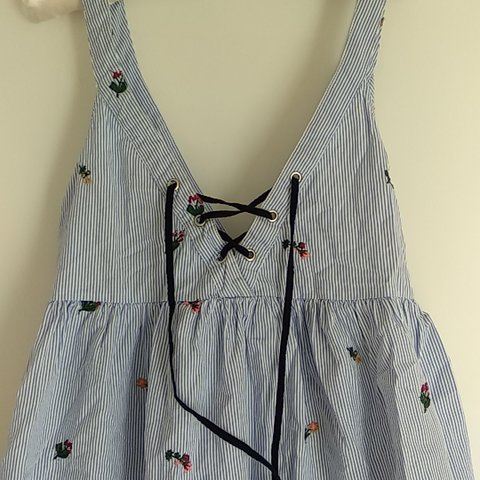a66996c7be Cute summer dress from Zara. Blue and white striped with and - Depop