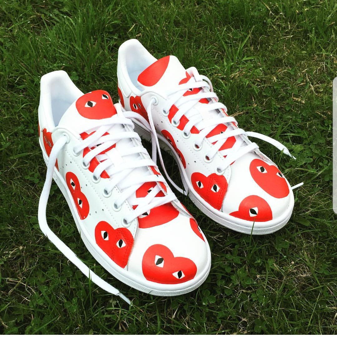 pick up 8aae9 219ea CUSTOMISED Commes des Garcons x adidas Stan smith ...