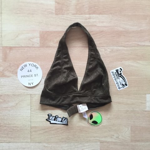 befafb178e Urban Outfitters Pins and Needles Lace Halter Bralette • new - Depop