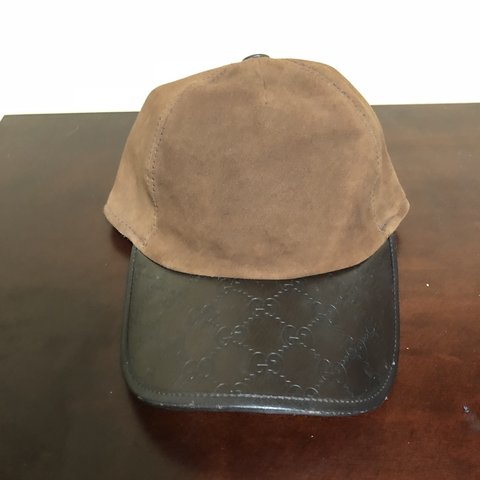 8cac708161e01 Vintage Gucci hat suede and leather  supremeforsale  dadhat - Depop