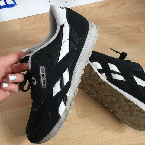 Reebok classics black suede size 8 uk womens Not worn much - Depop 3362bbbb5
