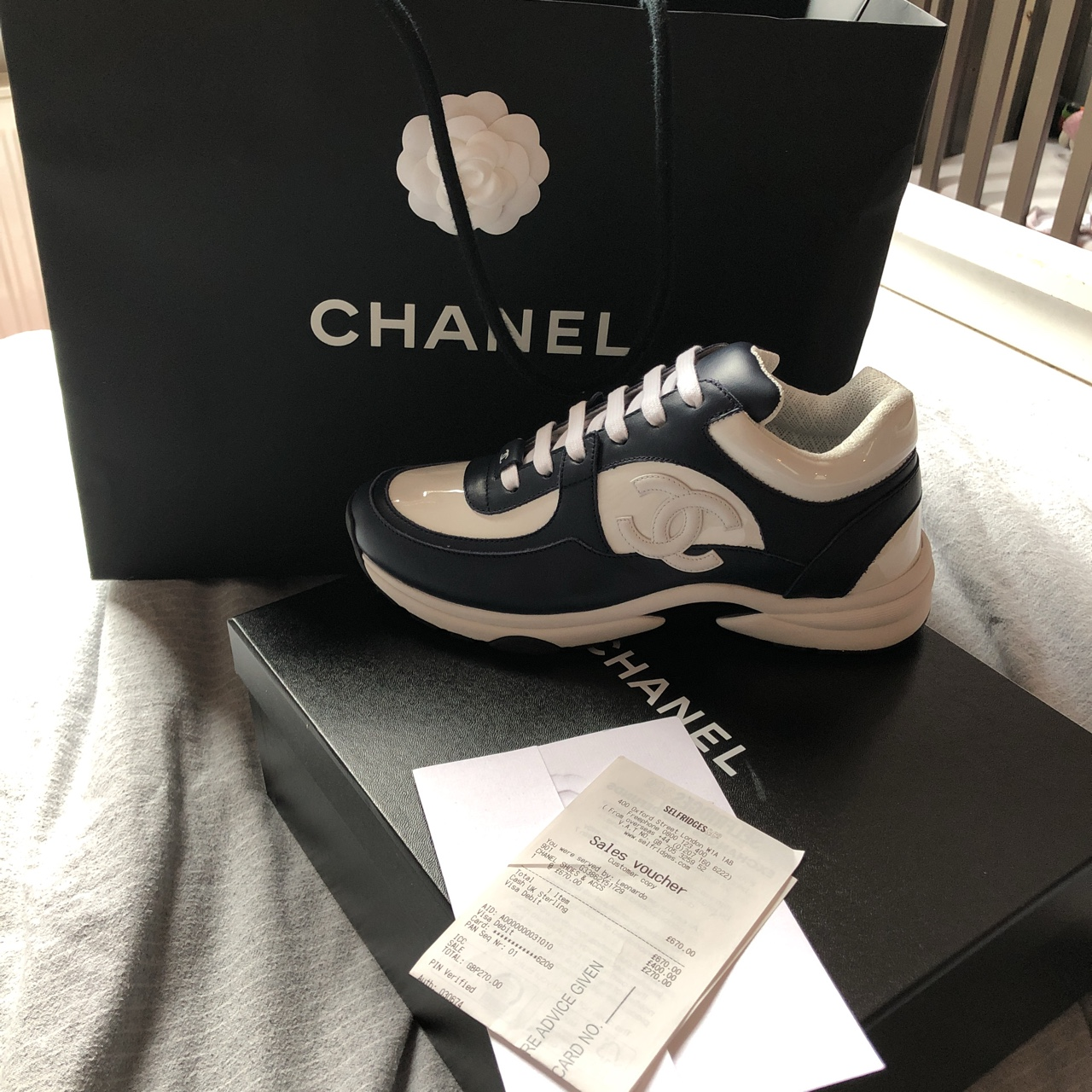 Women's Chanel trainers size 37.5. In