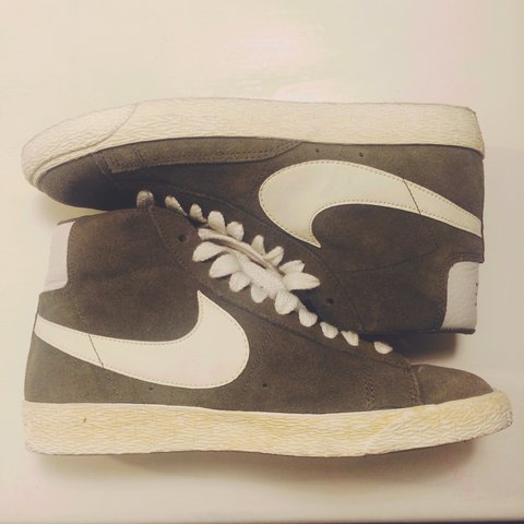 1dcc39ab51 Brand New - Worn once. Size 5. Nike Blazer High Vintage and - Depop