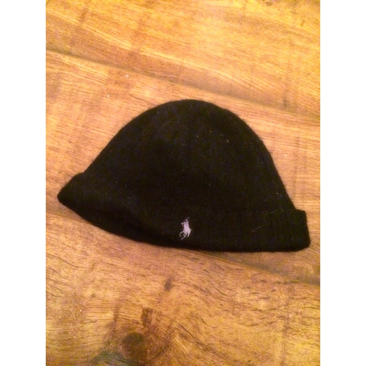 Genuine Polo Ralph Lauren Black Beanie Wooly Winter Hat Mens - Depop 08f6974789a2