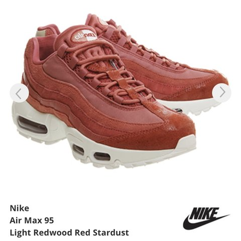 newest collection 6c01a bc825 @livjacko. 13 days ago. Leicester, United Kingdom. Nike Air Max 95 light  redwood ...