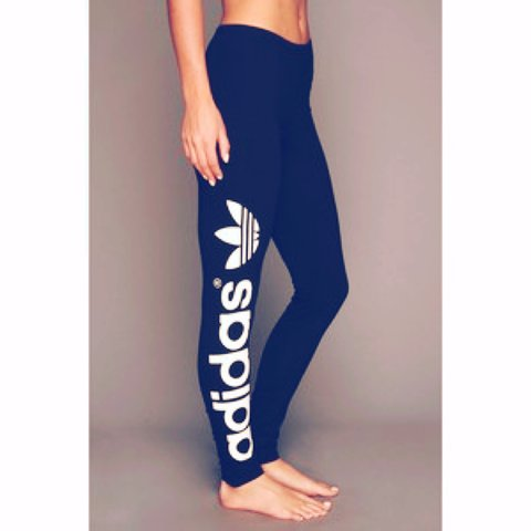 3bc03bbb7c3253 adidas #trefoil #womens #adidasoriginals #leggings #black - Depop