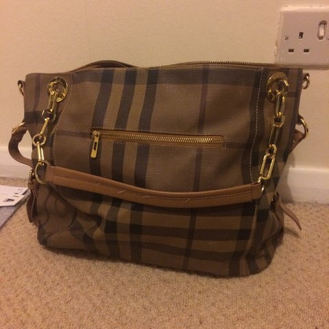 08858909cf8 Large fake Burberry bag, used but in good condition. - Depop