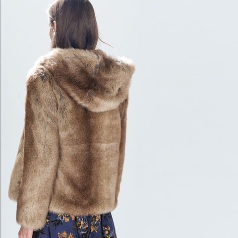 acfdc4f2 @lawlawsully. 21 days ago. Edinburgh, United Kingdom. Zara faux fur hooded  jacket ...