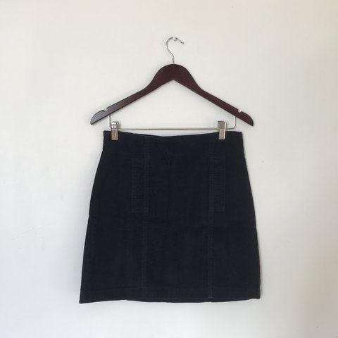67b492af92 Play by Charlotte Ronson high waisted corduroy mini navy Two - Depop