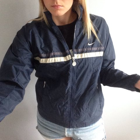 Women s navy Nike windbreaker jacket d7f8abf00