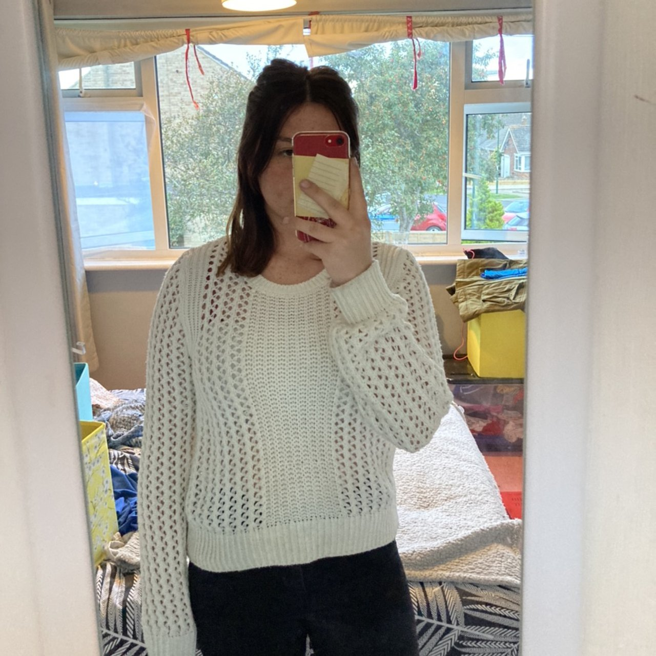 Lovely knitted jumper perfect for winter needs a Depop