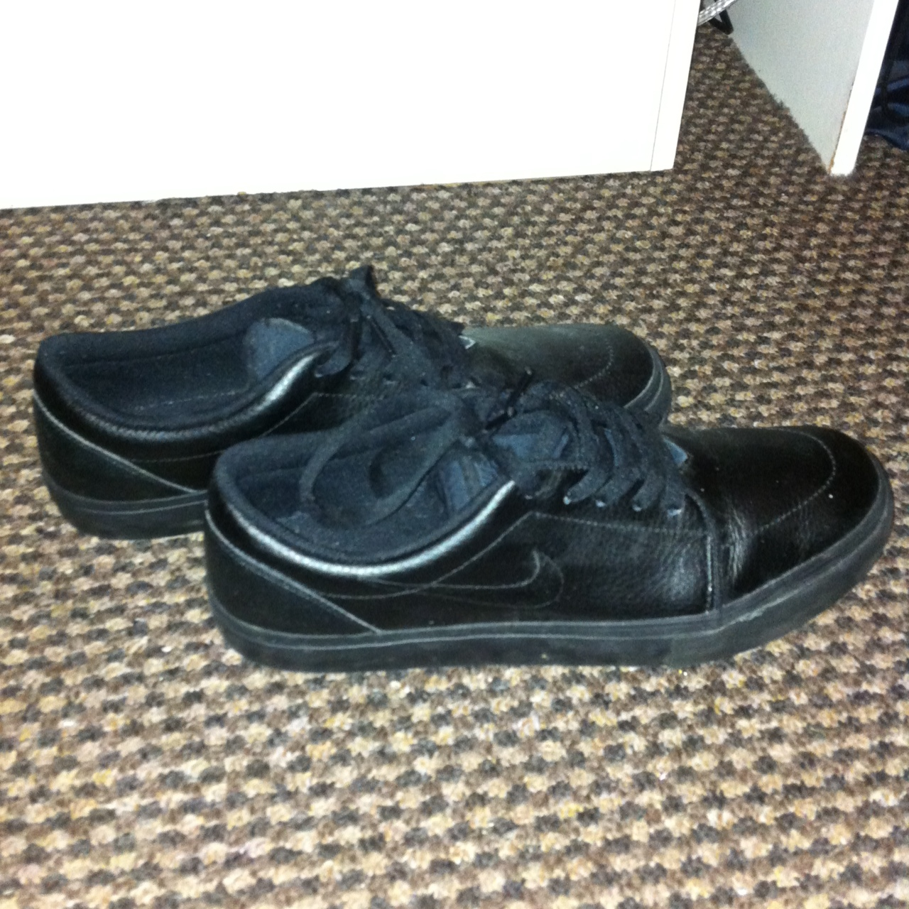 Nike Sb Satire Leather All Black Worn Only Depop