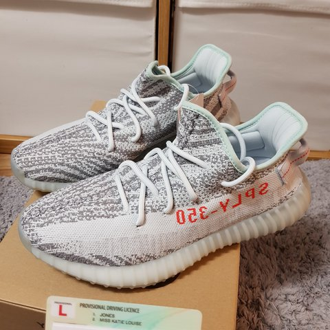 2dd658795ef2e Yeezy Boost 350 V2 Blue Tint - Deadstock with tags Size - - Depop