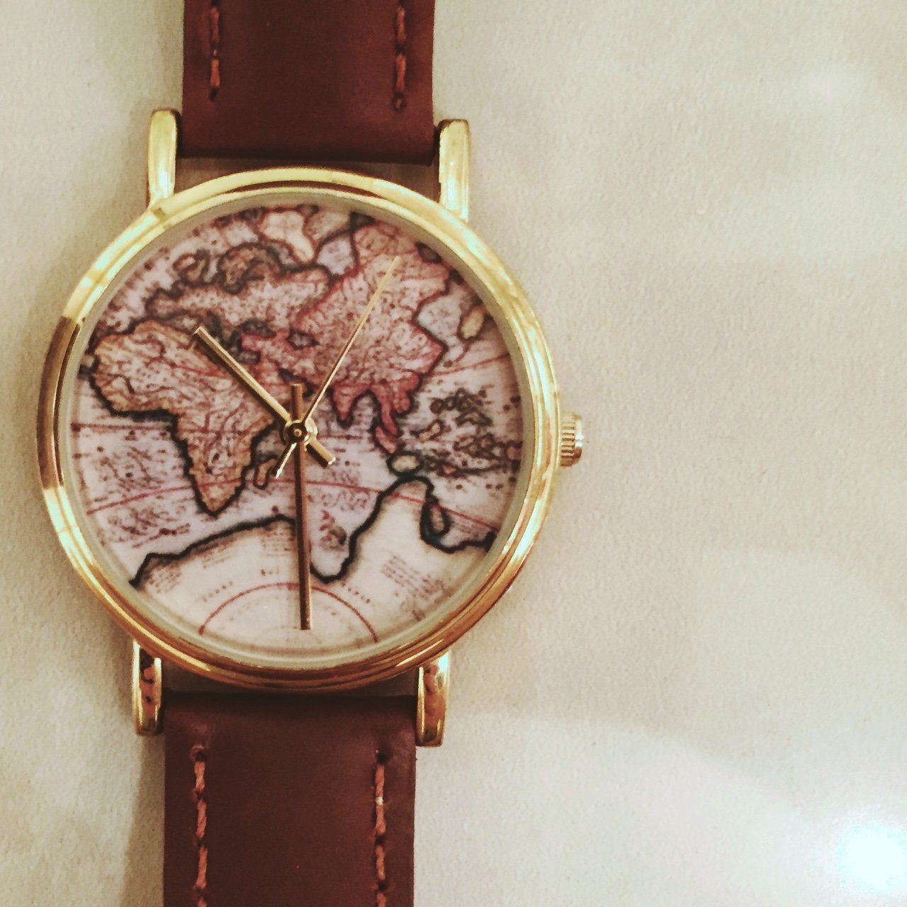 Urban Outfitters World Map Watch.Price Reduced World Map Vintage Watch Sold Out On Urban Depop