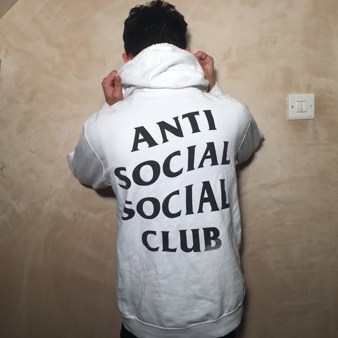 a284a9479b64 AUTHENTIC ANTI SOCIAL SOCIAL CLUB ASSC CLASSIC WHITE HOODIE - Depop