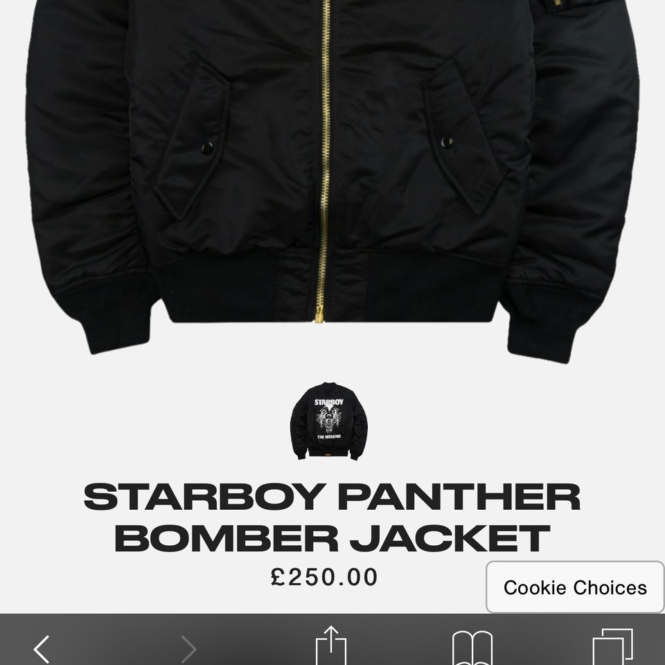 50e215d6c THE WEEKND STARBOY bomber jacket panther XO Bought... - Depop